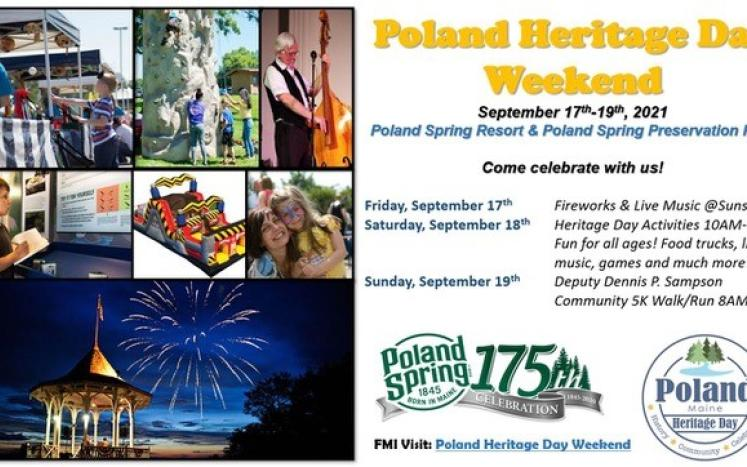 Poland Spring® Marks Maine Milestone at Annual Heritage Day Celebration   As the state of Maine commemorates its bicentennial, P
